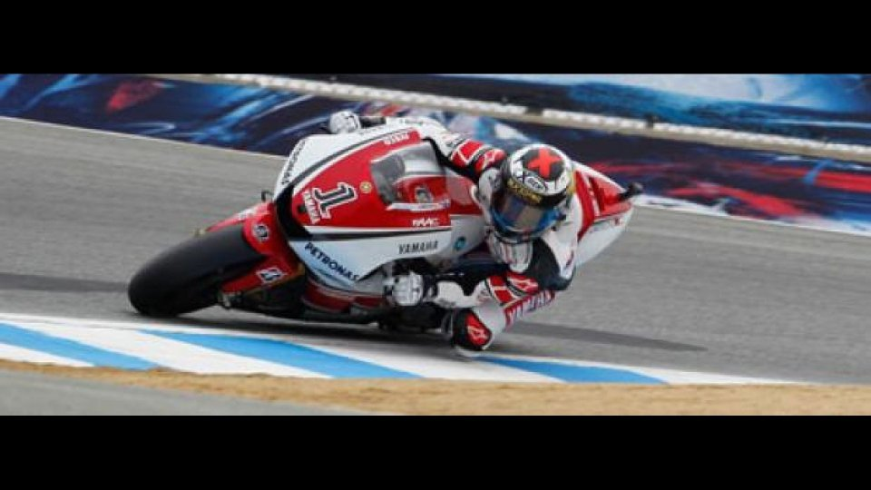 Moto - News: MotoGP, Laguna Seca: un eroico Lorenzo in pole