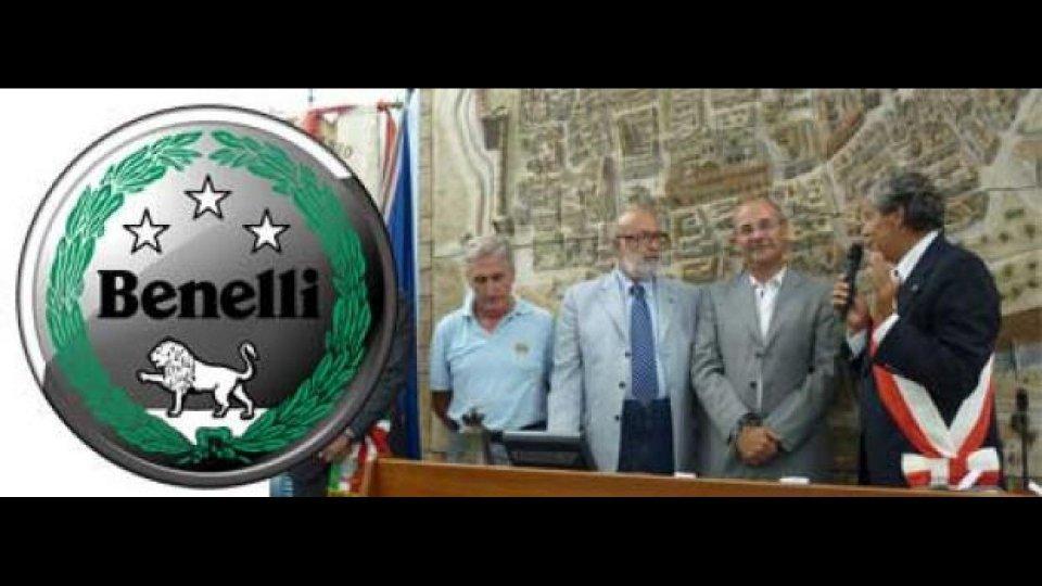 Moto - News: Il Comune di Pesaro premia la Benelli