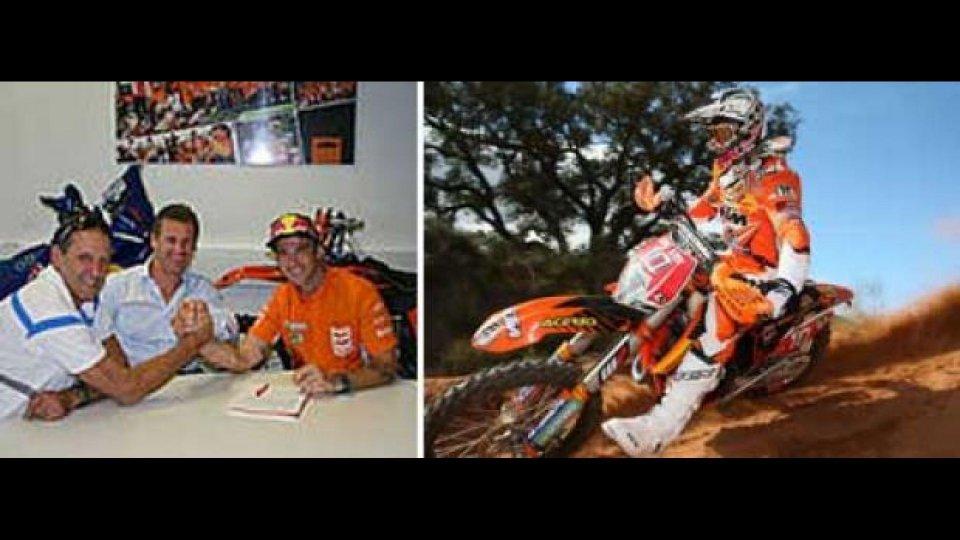 Moto - News: Johnny Aubert rinnova con KTM Racing per altri due anni