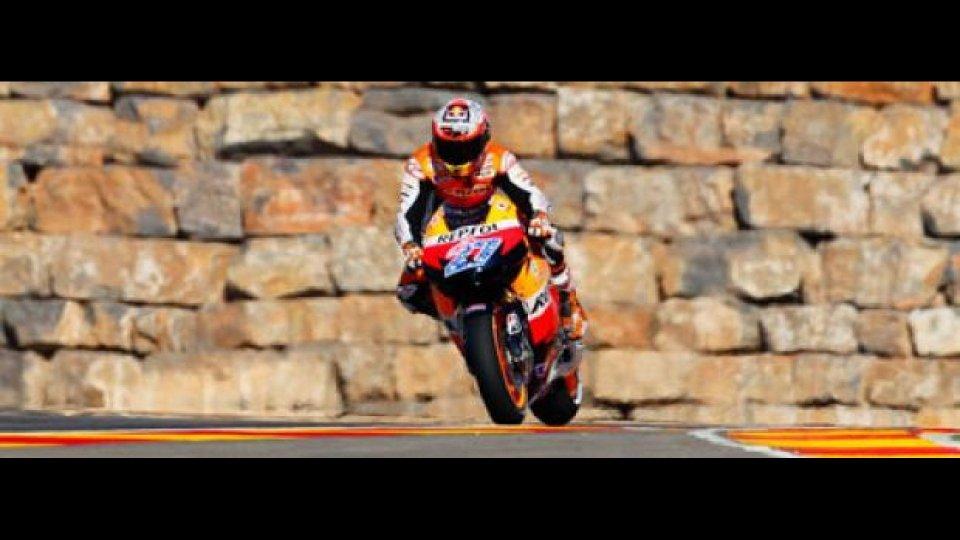 Moto - News: MotoGp, Aragon, Libere 2: Stoner e Pedrosa in fuga