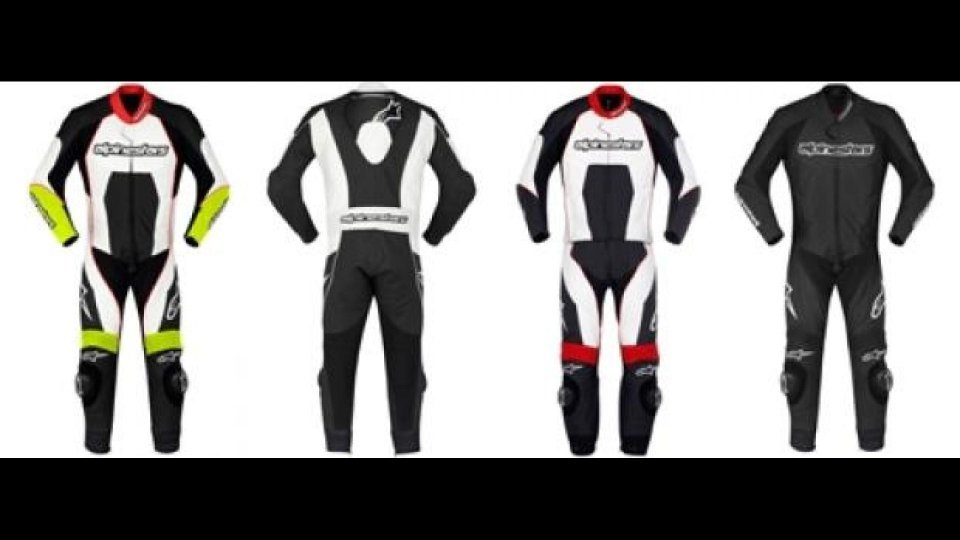Moto - News: Alpinestars 2012: Carver one/two Piece Leather Suit