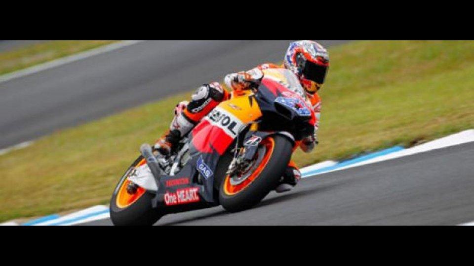 Moto - News: MotoGp, Motegi: Stoner in pole, ma Lorenzo è vicino
