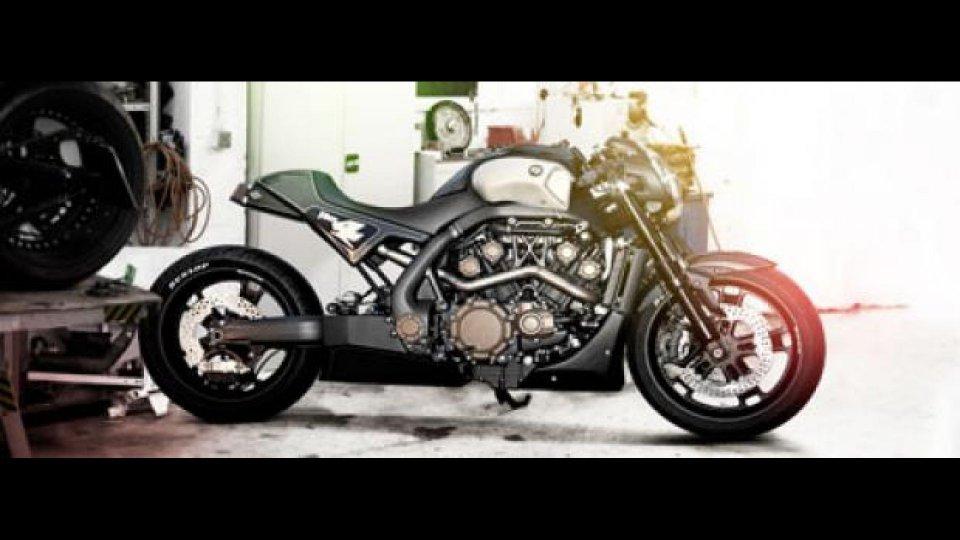 Moto - News: Yamaha V-Max Hyper Modified a Eicma 2011
