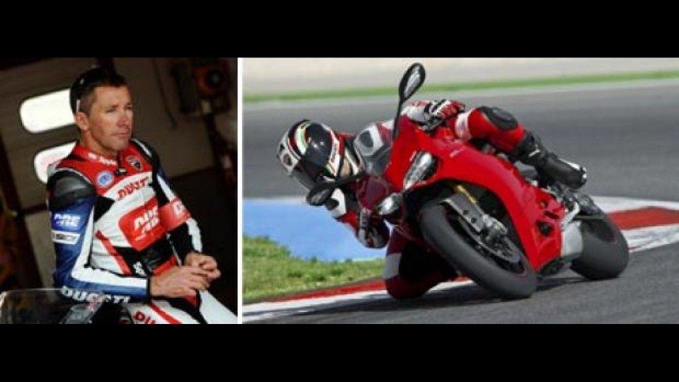 Moto - News: Ducati: 1199 Panigale e Troy Bayliss al DRE 2012