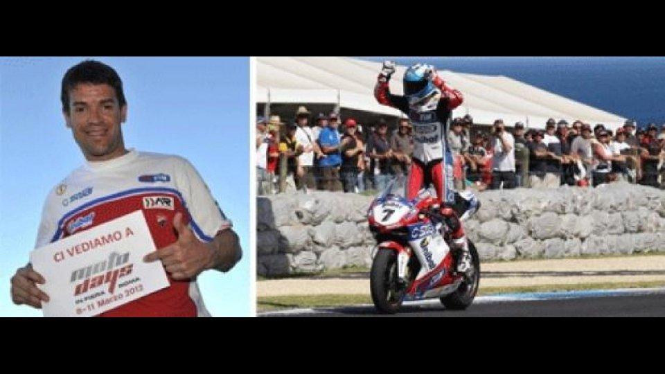 Moto - News: Motodays 2012: Carlos Checa a Roma