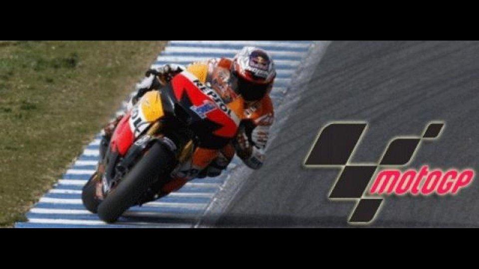 Moto - News: MotoGP 2012, Estoril, Libere 2: Casey Stoner su tutti