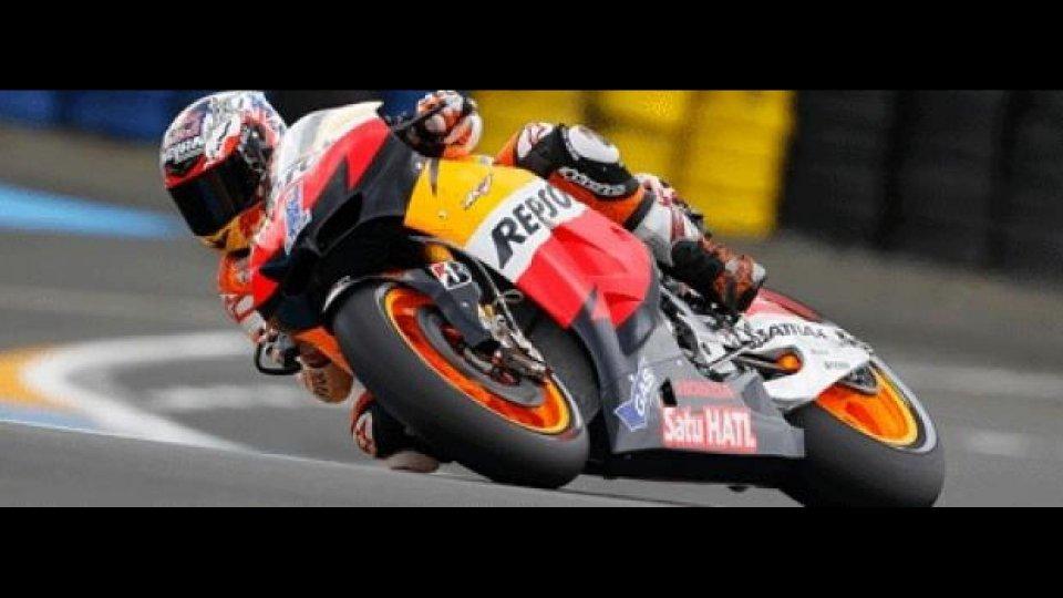 Moto - News: MotoGP 2012, Le Mans, Libere 2: ancora Stoner, segue Pedrosa