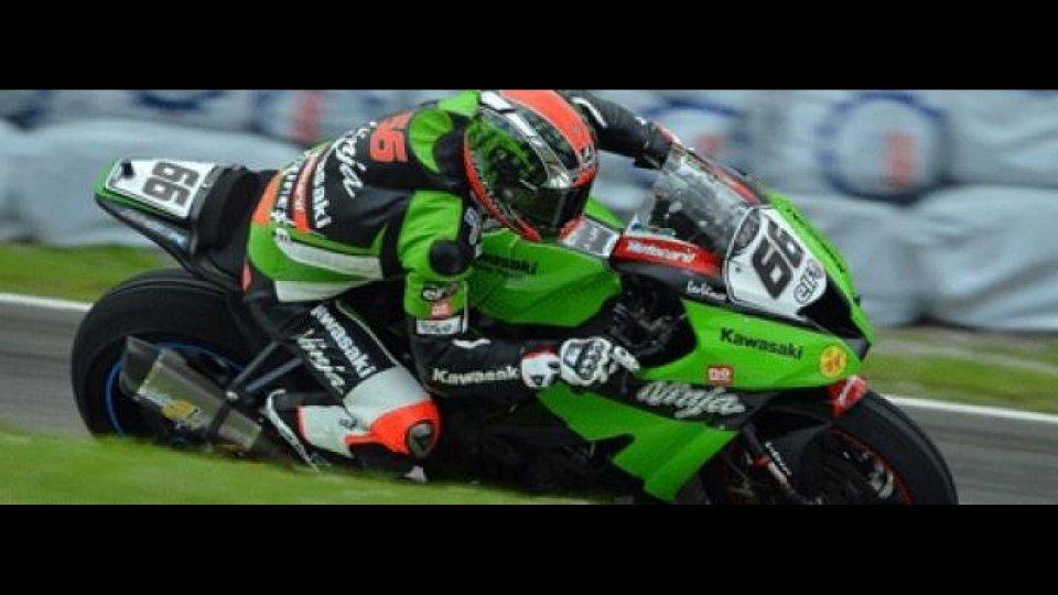 Moto - News: WSBK 2012, Donington, Libere 1: ancora Sykes, ancora Kawasaki!