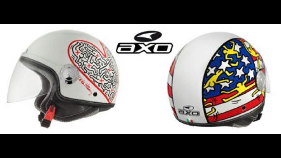 Moto - News: Axo: i modelli ispirati alle opere di Keith Haring