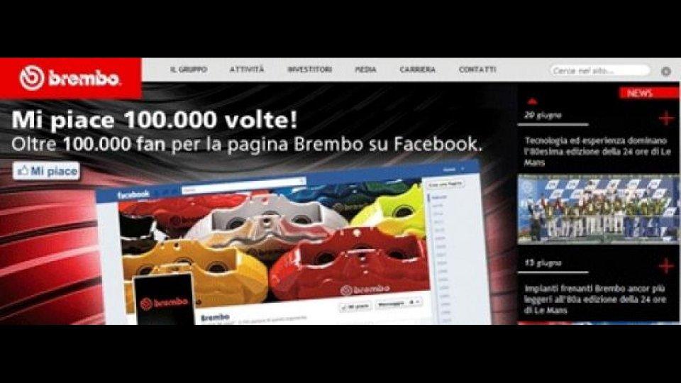 Moto - News: Brembo: oltre 100.000 fans su Facebook