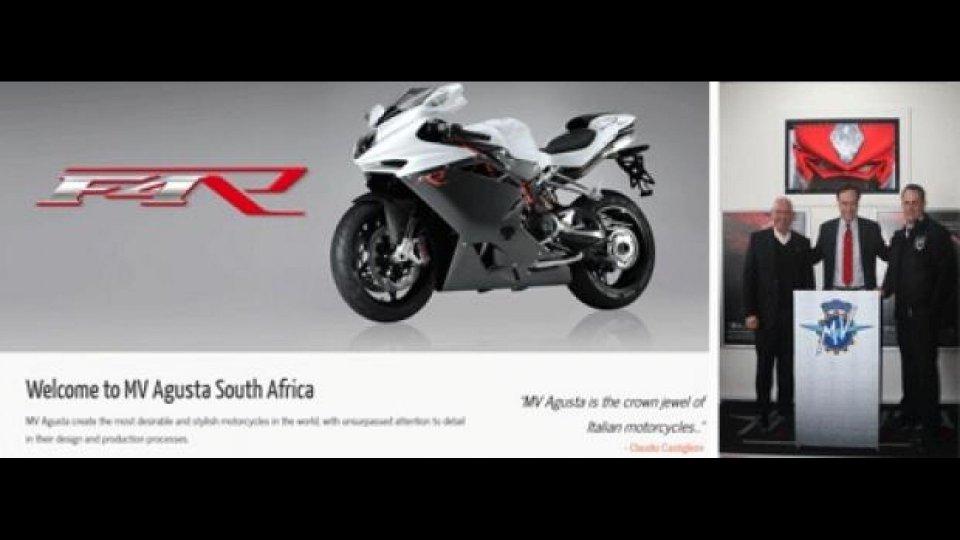 Moto - News: MV Agusta nel mercato Sudafricano