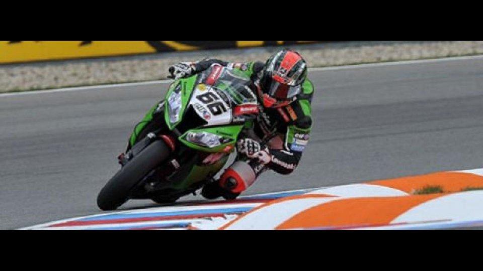 Moto - News: WSBK 2012, Brno, Superpole: Sykes arriva a quota sette