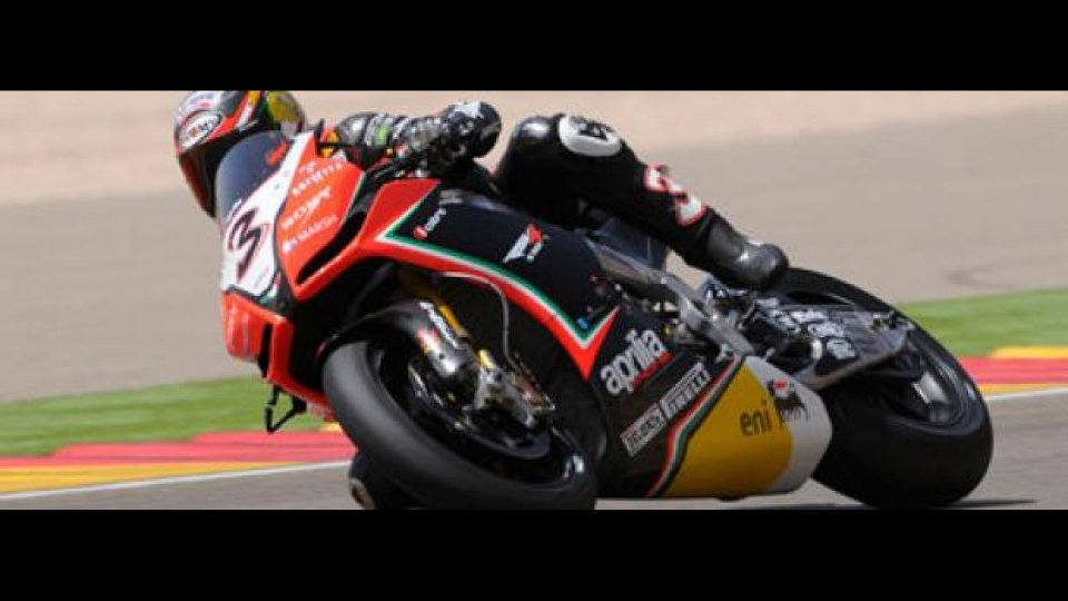 Moto - News: WSBK 2012, Motorland Aragon, Gara 1: Biaggi la spunta su Melandri