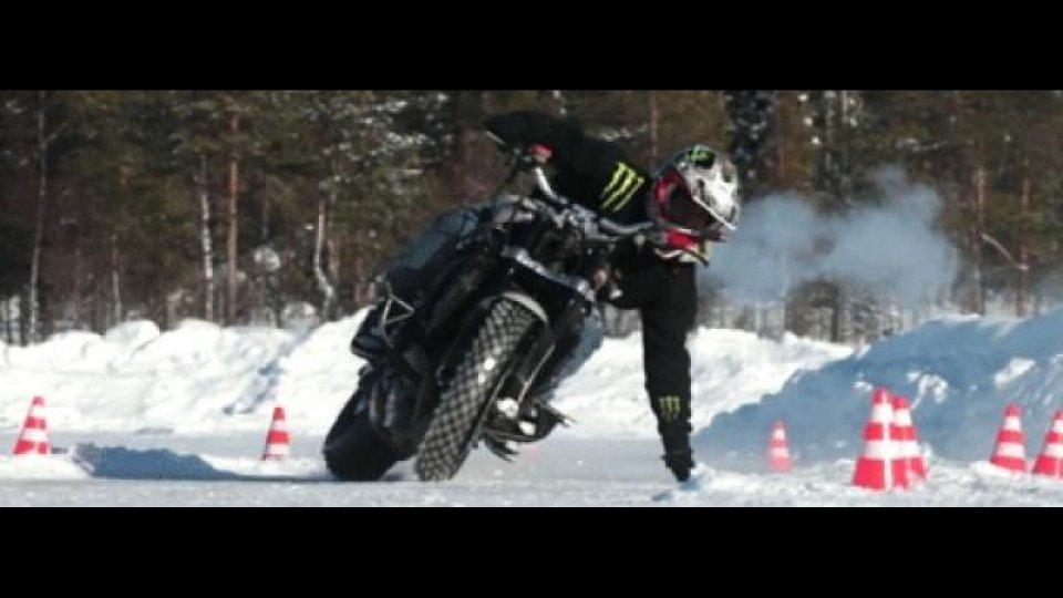Moto - News: Extreme Motorcycle Snow Drifting by Jorian Ponomareff