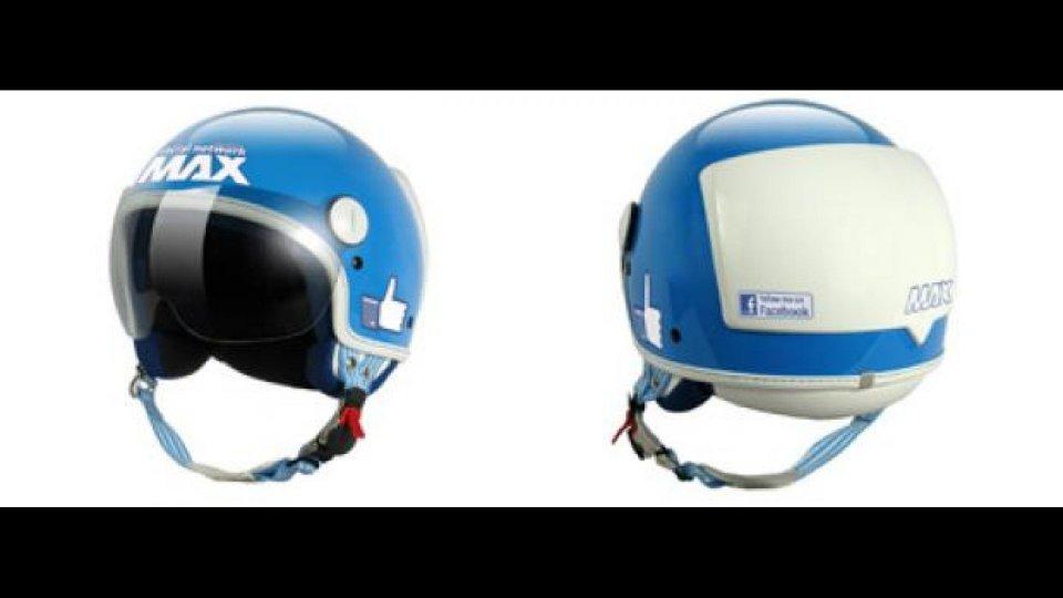 """Moto - News: Max, il """"social helmet"""" approvato da Facebook"""