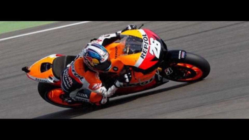Moto - News: MotoGp 2012, Indianapolis, Libere 2: Pedrosa risponde a Stoner
