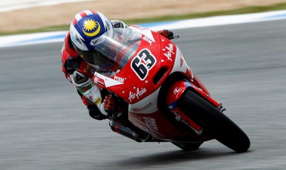 Moto - News: Moto3, FP3: Khairuddin vola sul bagnato
