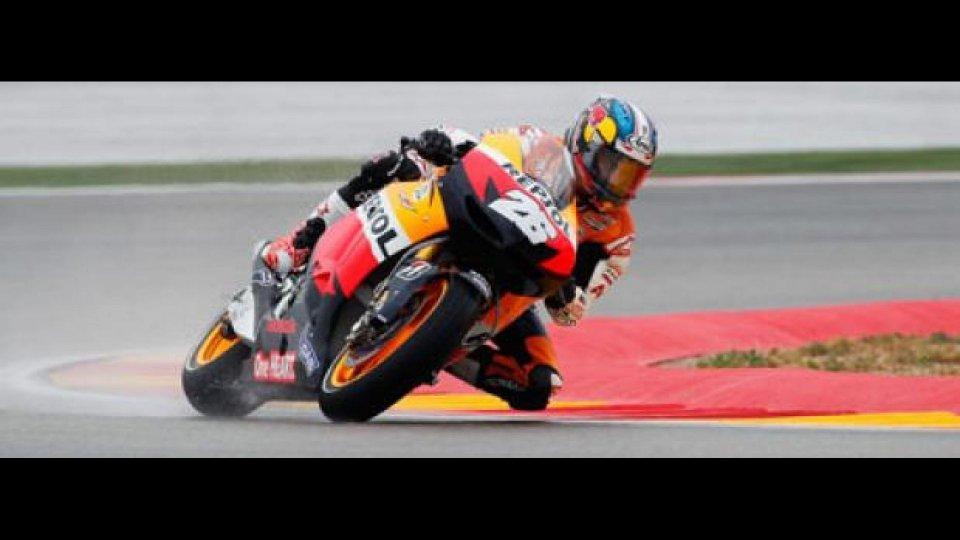 Moto - News: MotoGp 2012, Aragon, Libere 3: Pedrosa al top sull'umido