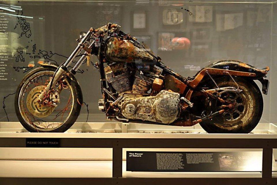 Moto - News: Esposta l'Harley simbolo dello Tsunami