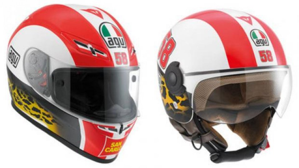 Moto - News: AGV: Simoncelli Tribute Helmets