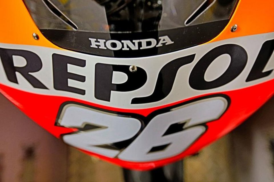 Moto - News: La nuova MotoGP Honda mostra il naso
