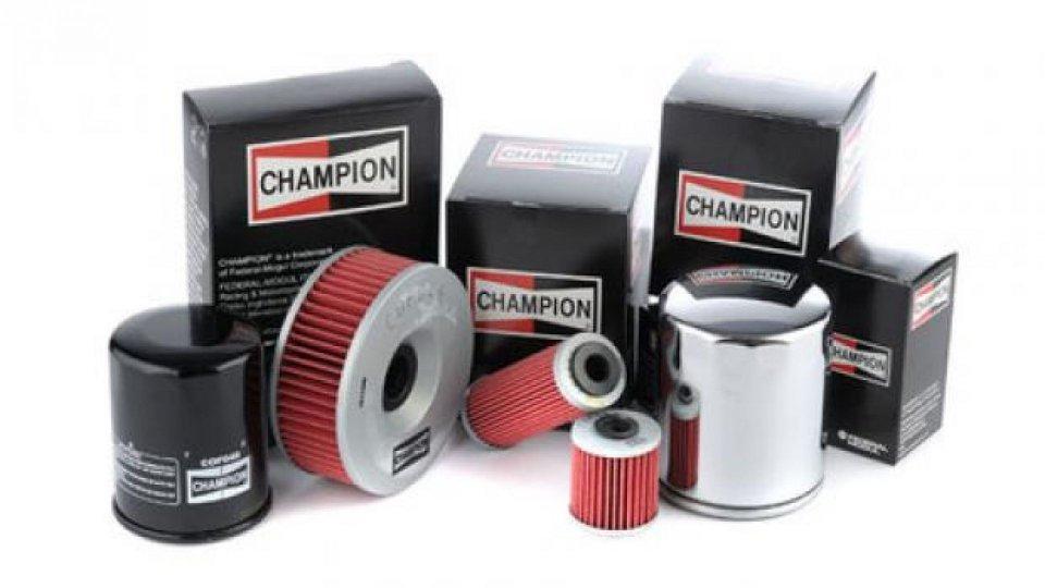 Moto - News: Champion: nuovi filtri olio per maggiori prestazioni