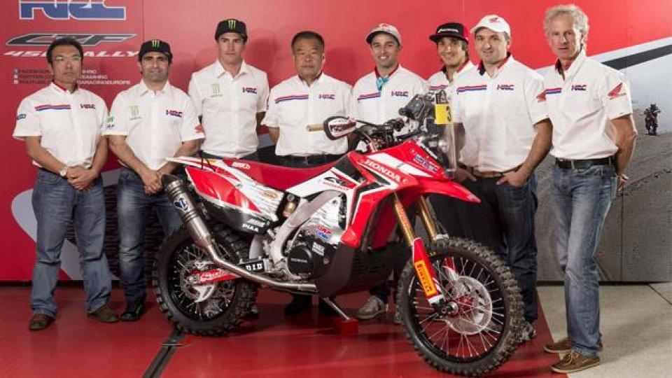 Moto - News: Dakar 2014: presentato il Team HRC al Mugello