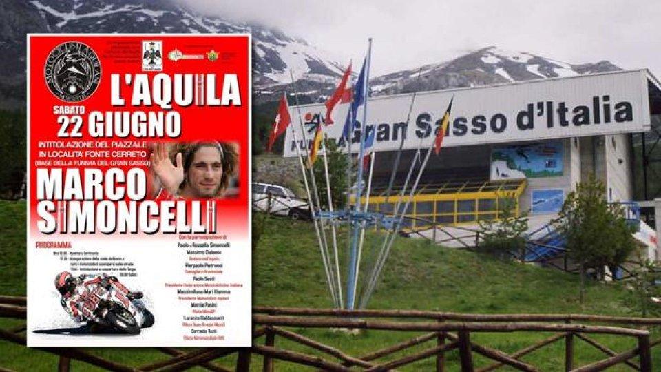 Moto - News: Il piazzale della Funivia del Gran Sasso intitolato a Marco Simoncelli