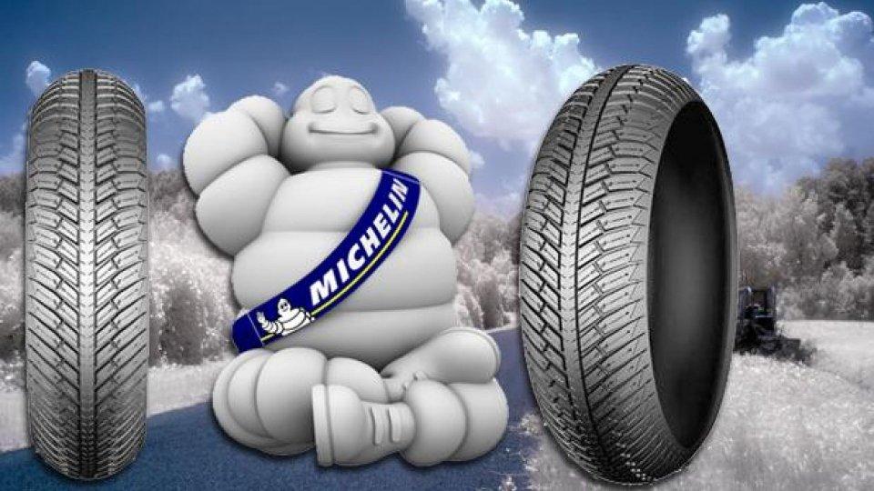 Moto - News: Michelin City Grip Winter: l'invernale da scooter del Bibendum 2