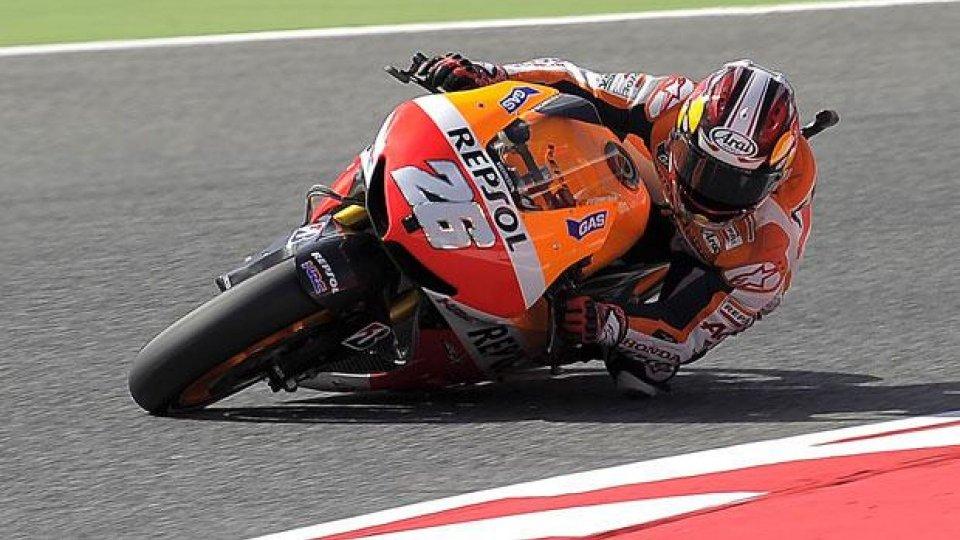 Moto - News: MotoGp 2013, Barcellona: pole da record per Pedrosa
