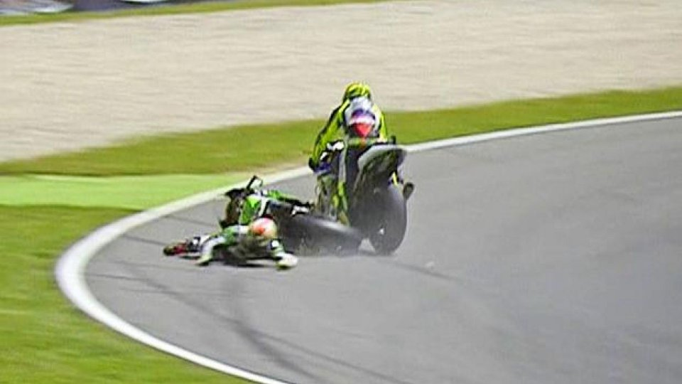 Moto - News: MotoGP 2013: GP del Mugello, Rossi-Bautista, di chi è la colpa?