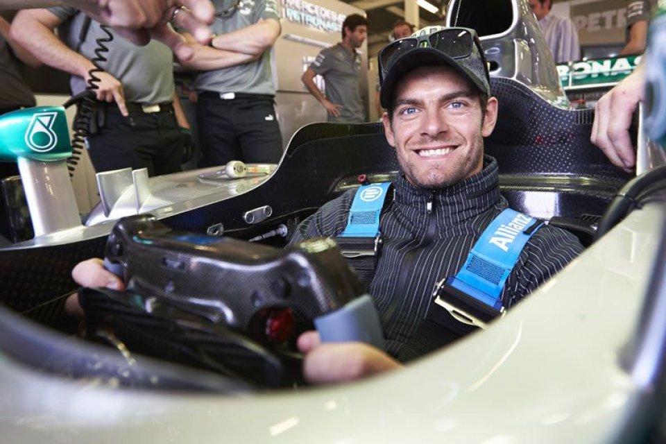 Cal Crutchlow sulla Mercedes F1