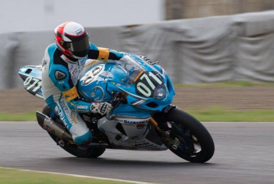 Moto - News: Schwantz con il casco di Rainey a Suzuka