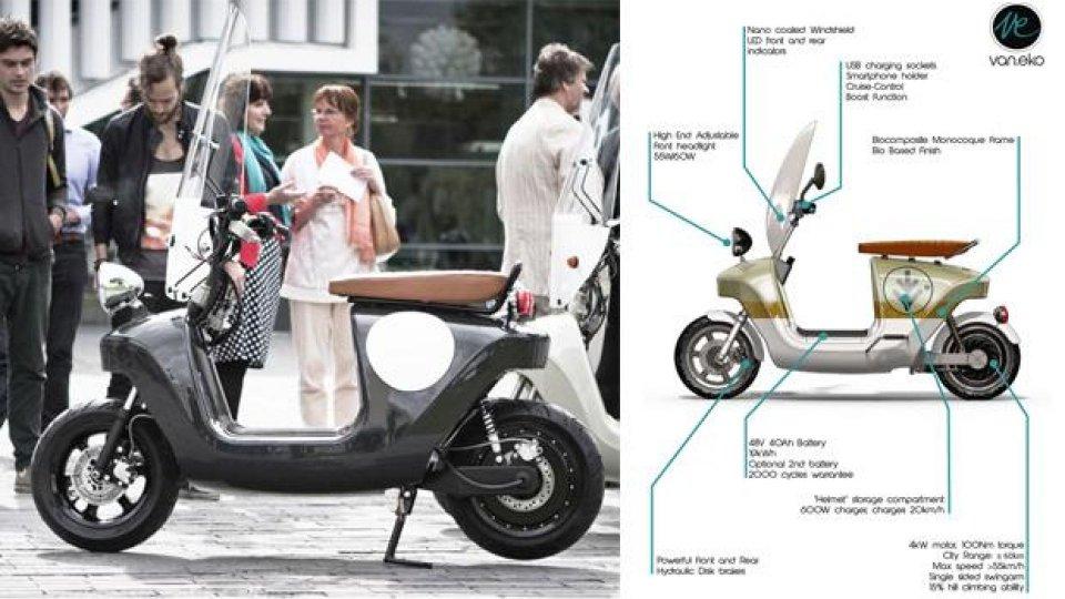 Moto - News: Van.Eko Be.e: arriva lo scooter bio