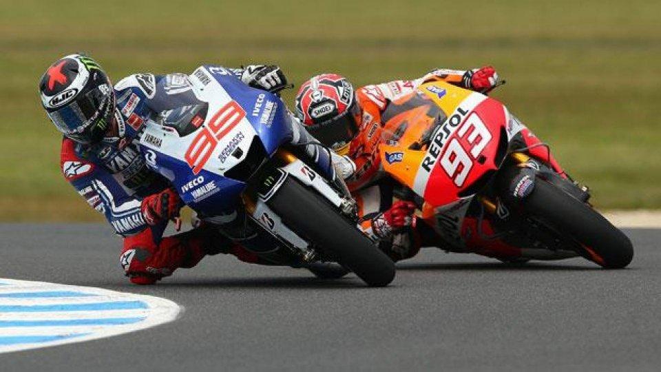 Moto - News: MotoGp, Phillip Island: Marquez squalificato, vince Lorenzo