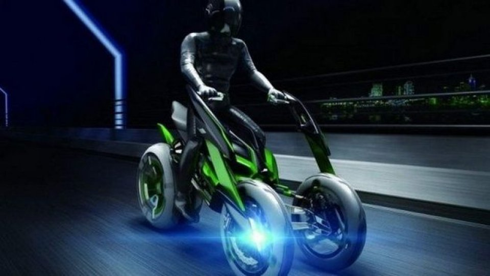 Moto - News: Kawasaki mostra un 'Batpod' a Tokio