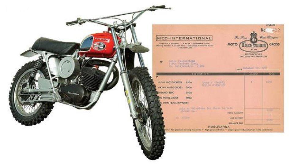 Moto - News: All'Asta una Husqvarna 250 Cross appartenuta a Steve McQueen