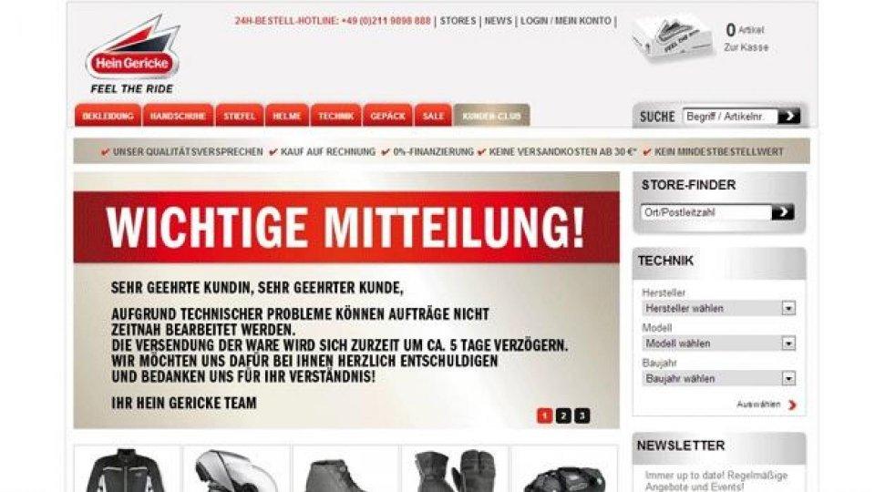 Moto - News: Hein Gericke va in amministrazione controllata