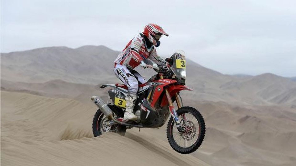 Moto - News: Dakar 2014, Tappa 10: doppietta Honda con Barreda e Rodrigues