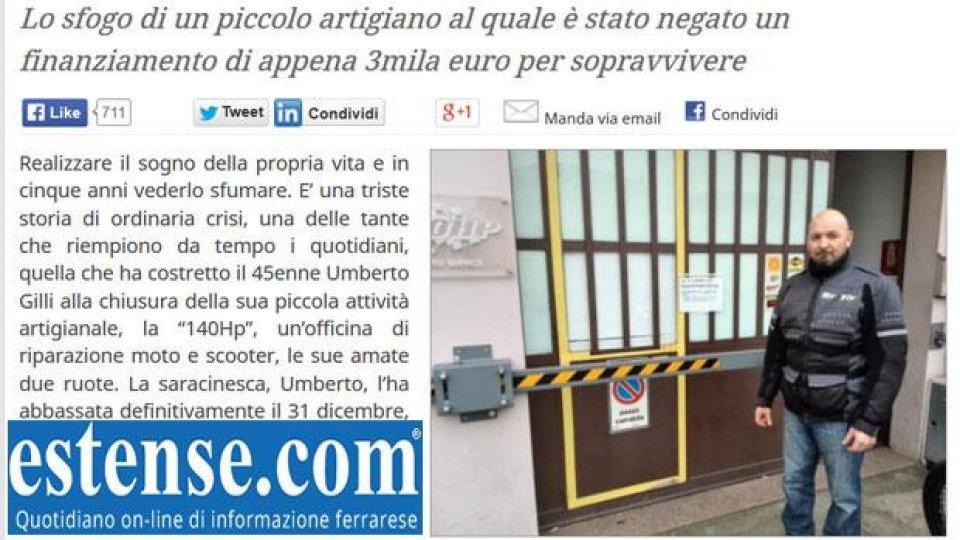 """Moto - News: Umberto chiude la sua officina e manda un """"Vaffa"""" a stato e banche"""