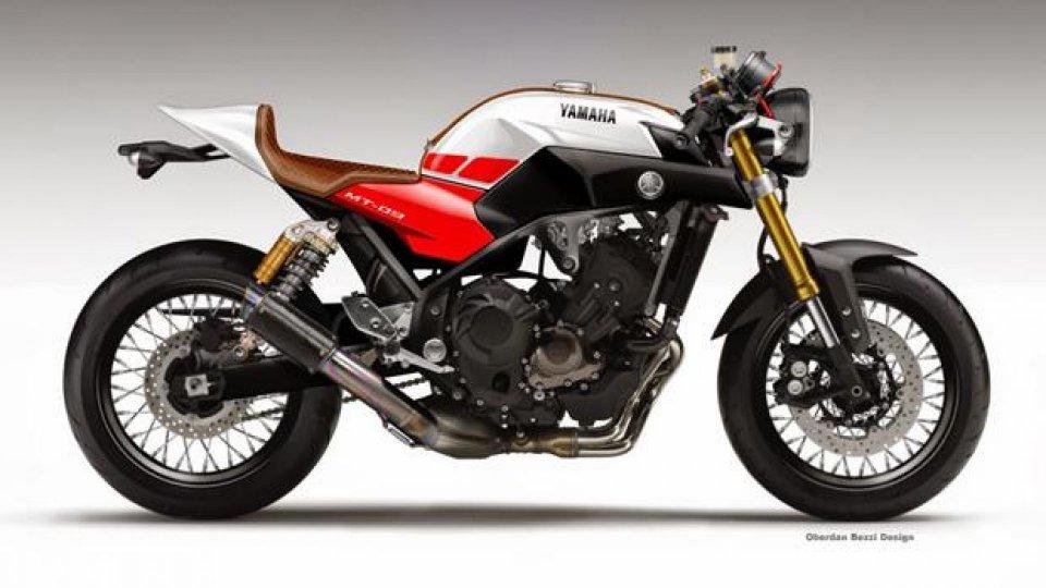 Moto - News: Yamaha MT-09 Triple Cafè Concept by Oberdan Bezzi