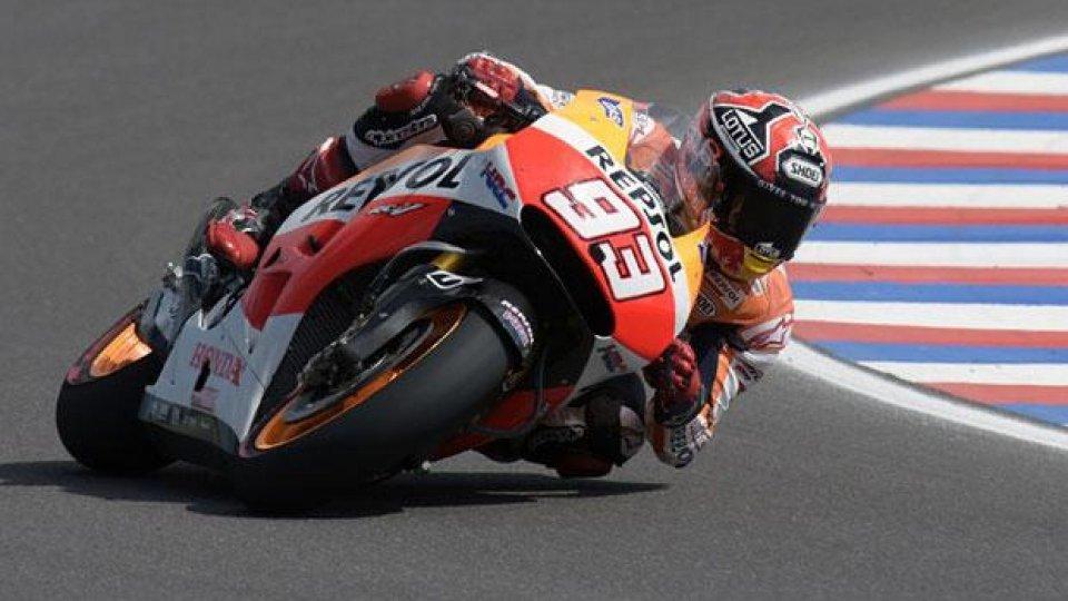 Moto - News: MotoGp 2014: Marquez cala il tris in Argentina
