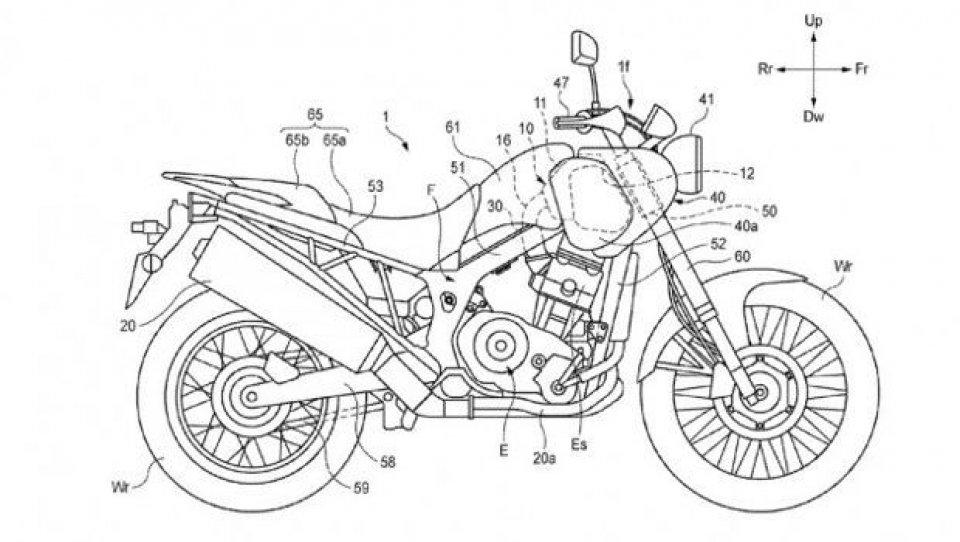 Honda registra il brevetto di una Scrambler?