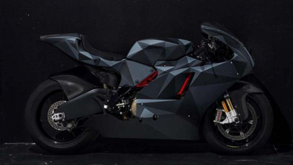 Moto - News: Ducati Desmosedici RR Black Polygon: aggressiva come un caccia stealth