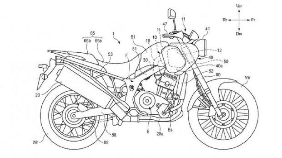 Moto - News: Honda registra i brevetti di una moto misteriosa