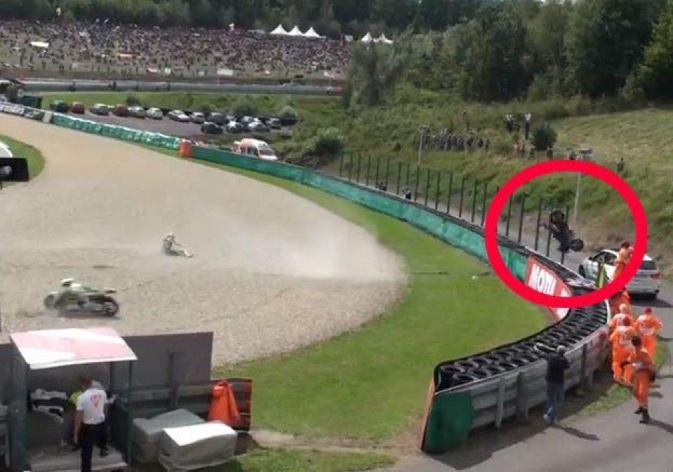 La sequenza della caduta di Rossi