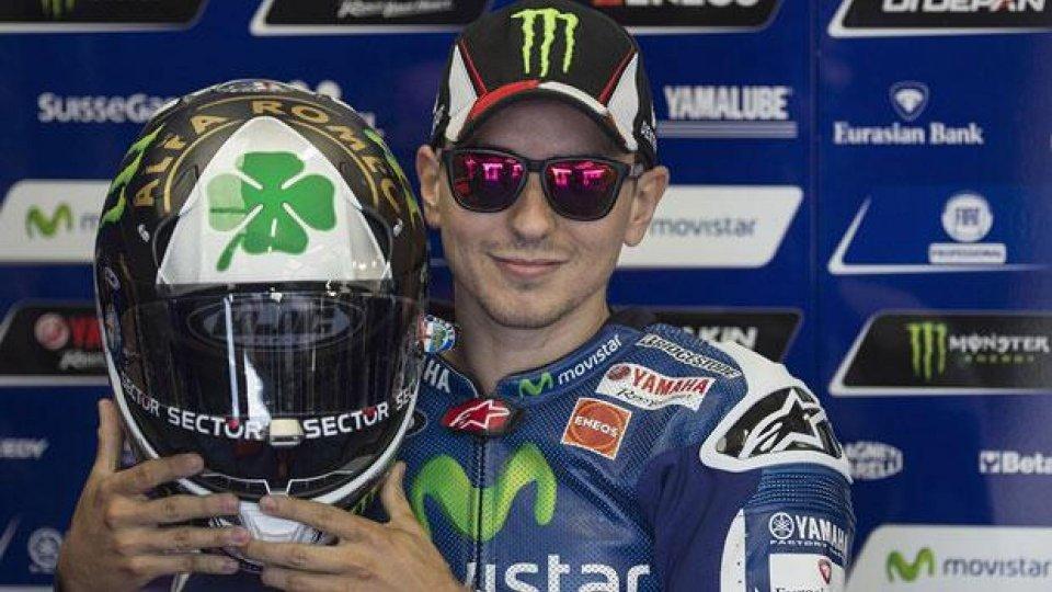 Moto - News: MotoGP 2014, Jorge Lorenzo: a Silverstone il nuovo casco [VIDEO]