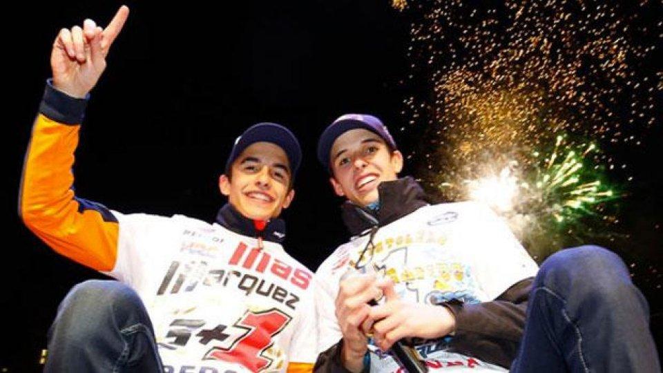 Moto - News: I fratelli Marquez accolti come eroi a Cervera