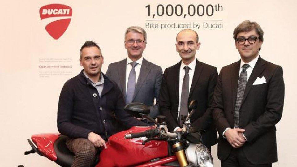 Moto - News: Ducati: consegnata la milionesima moto di Borgo Panigale