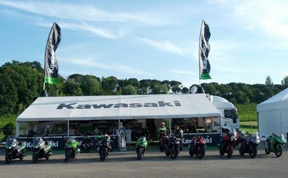 La gamma Kawasaki in prova ad Imola